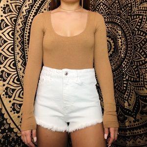 Forever 21 long sleeve bodysuit